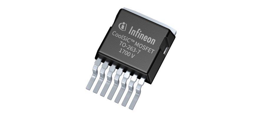 7端子TO-263パッケージに封止した+1700V耐圧SiCパワーMOSFET Infineon Technologiesの写真