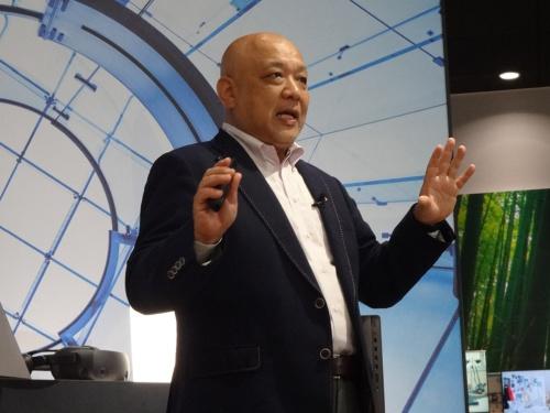 日本HP 専務執行役員 パーソナルシステムズ事業統括の九嶋俊一氏(出所:日本HP、以下同じ)
