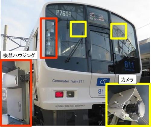 図1:カメラなどを搭載したJR九州の「811系」車両