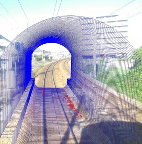 図2:「列車巡視支援システム」による建築解析結果のイメージ