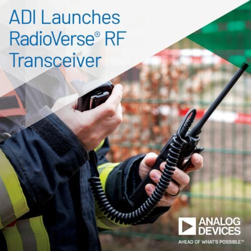 レシーバー回路のダイナミックレンジが−150dBc/Hzと広いRFトランシーバーICの応用例(警察無線機器)
