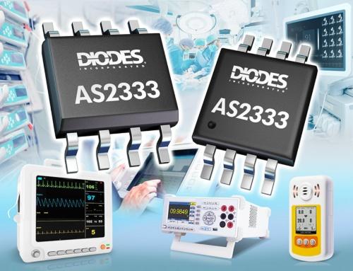 入力オフセット電圧が8μVで、その温度ドリフトが0.02μV/℃と小さいデュアル構成のオペアンプIC