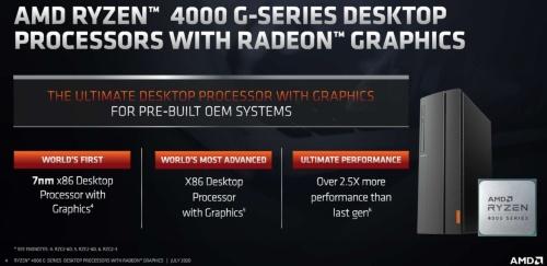 「Ryzen 4000 Gシリーズ・デスクトップ・プロセッサー」の概要