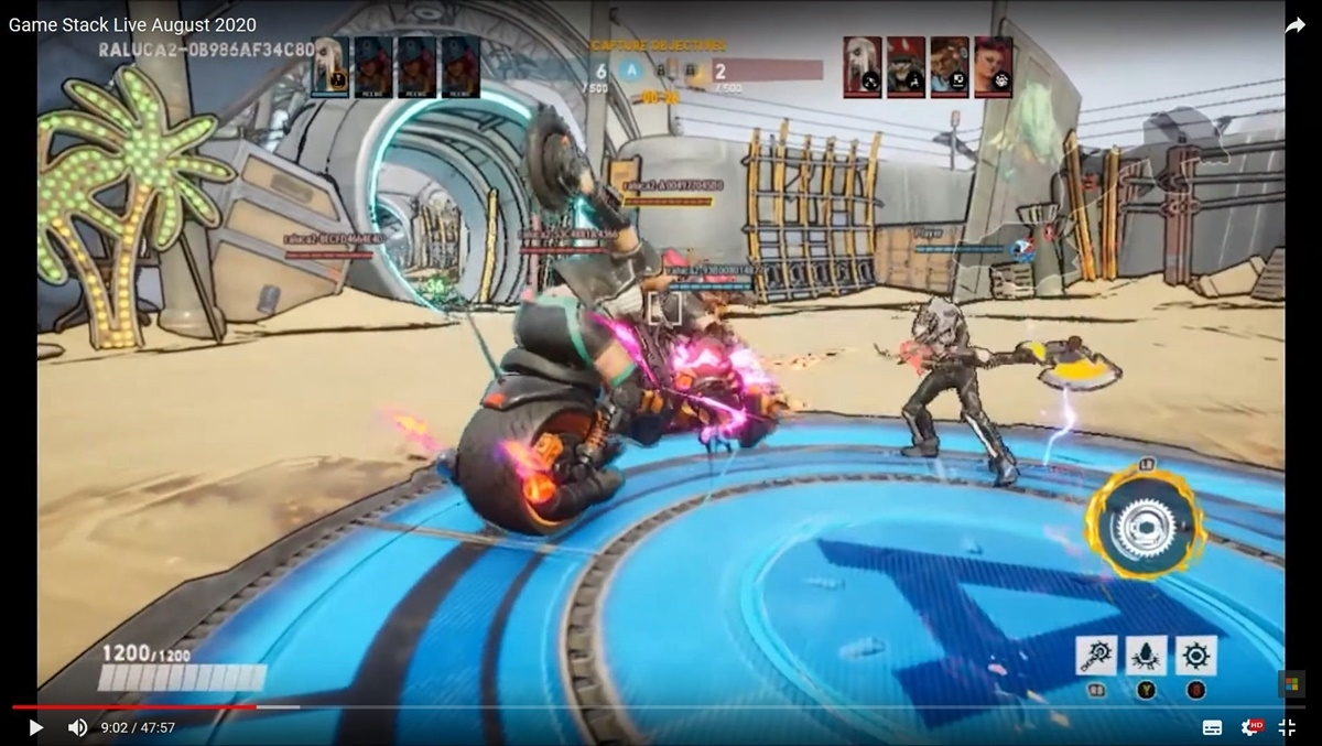 Ninja Theoryの対戦ゲーム「Bleeding Edge」の映像 (出典:「Game Stack Live August 2020」の公式動画をキャプチャーしたもの)