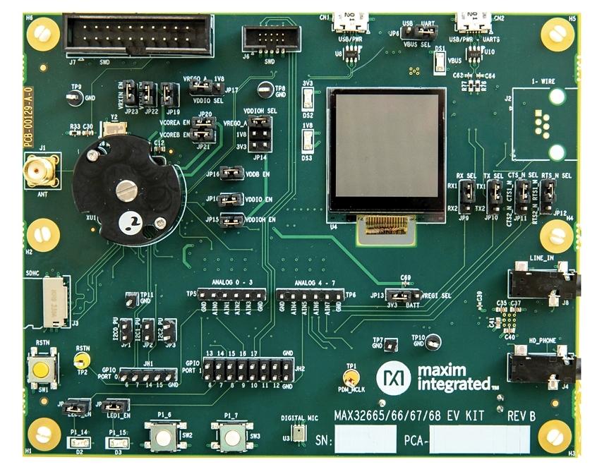 開発キットの「MAX32666EVKIT#」 Maximの写真
