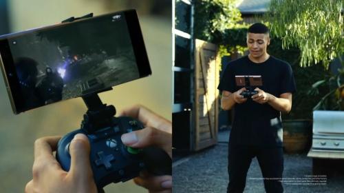 「Galaxy Note20」シリーズの発表動画では、Project xCloudのデモを見せた
