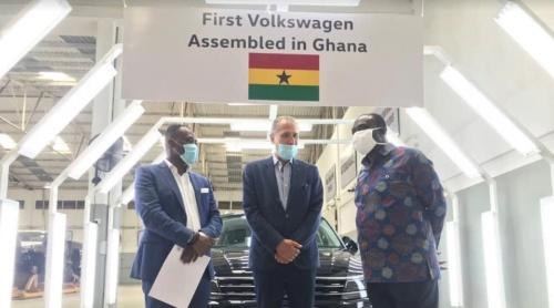 ガーナのAlan Kyerematen通商産業大臣による工場視察