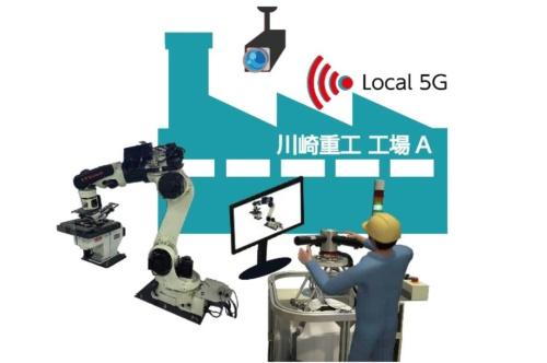 川崎重工とオプテージ、スマートファクトリー目指しローカル5Gの実証実験