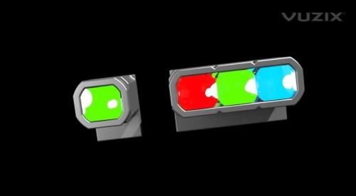 緑色単色とRGB表示に対応した機種を開発中