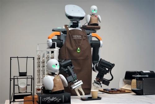 双腕ロボットと分身ロボットを組み合わせてコーヒーをいれるシステム