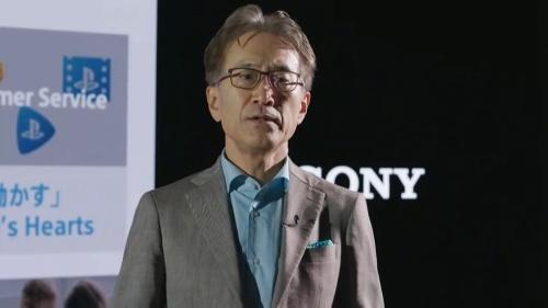 図 ESG説明会に登壇したソニーの会長兼社長兼最高経営責任者(CEO)である吉田憲一郎氏