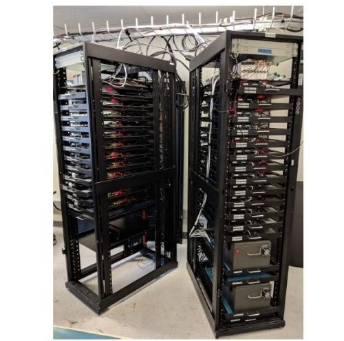 実験室に配備されたVehicular Congestion Test Rack(VeCTR)