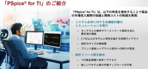 PSpice for TIの主な特徴