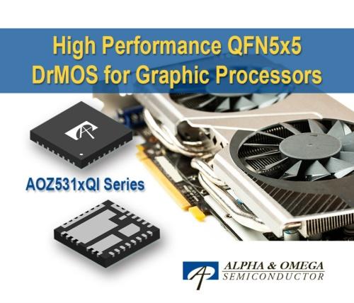 GPUやメモリーなどへの電力供給に向けたDrMOSモジュール