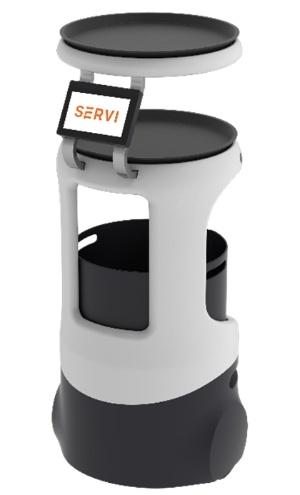 配膳ロボット「Servi」(出所:ソフトバンクロボティクス)