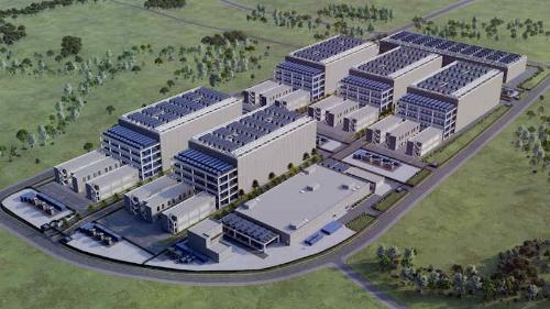 データセンターキャンパスの完成予想図