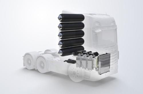 大型トラック向け水素燃料電池システム