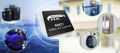今回の新製品「RA6T1グループ」(中央)と想定する応用先