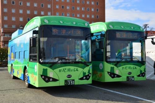 会津乗合自動車が運行するEV(電気自動車)バス