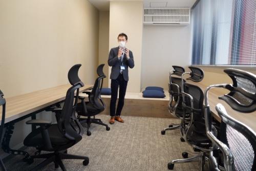 エンジニアが働きやすいようにリラックスして作業ができる部屋も用意した
