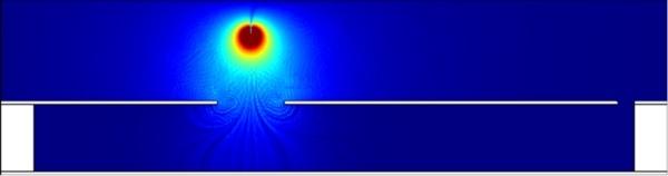 図2:放電プラズマによる帯電シミュレーションの様子 (出所:東京都市大学)
