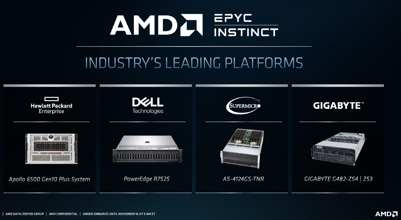AMDのMPU「EPYC」をベースにしたサーバーに新製品が搭載されるもよう AMDのスライド