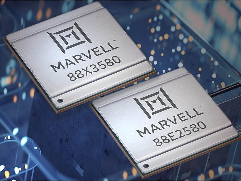 今回の新製品 17mm×17mmのFC-TFBGAパッケージに封止する。Marvellの写真