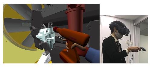 図2:工具モデルとコントローラーの連動イメージ