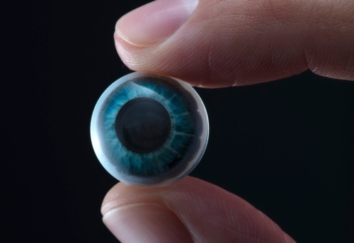 Mojo Lensの試作品(出所:Mojo Vision/Business Wire)