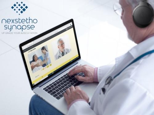 デジタル聴診デバイス「ネクステート」を活用したオンライン診療のイメージ
