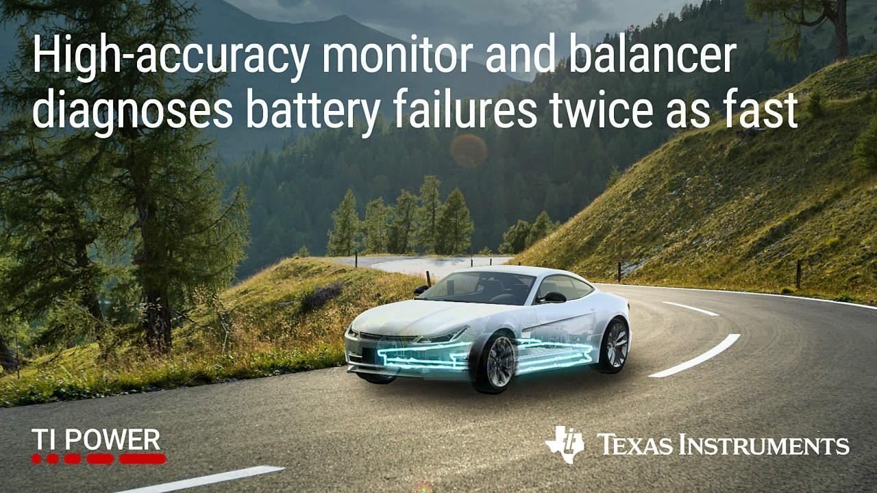 ASIL-Dに準拠する電池モニター/セルバランスICの応用例 Texas Instrumentsのイメージ