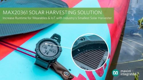 太陽電池によるエナジーハーベスト向け小型電源ICの応用例(フィットネス端末)