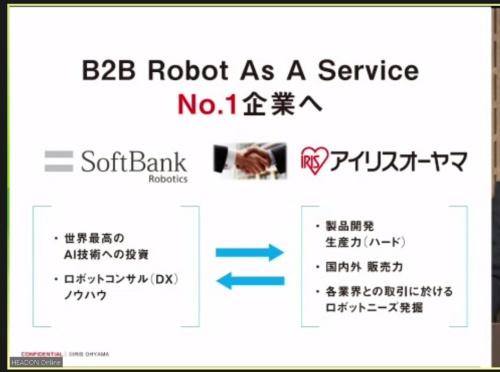 法人向けのロボット事業を手掛ける新会社を設立する