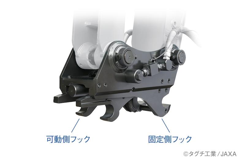 図3:2つのフック (出所:タグチ工業/JAXA)