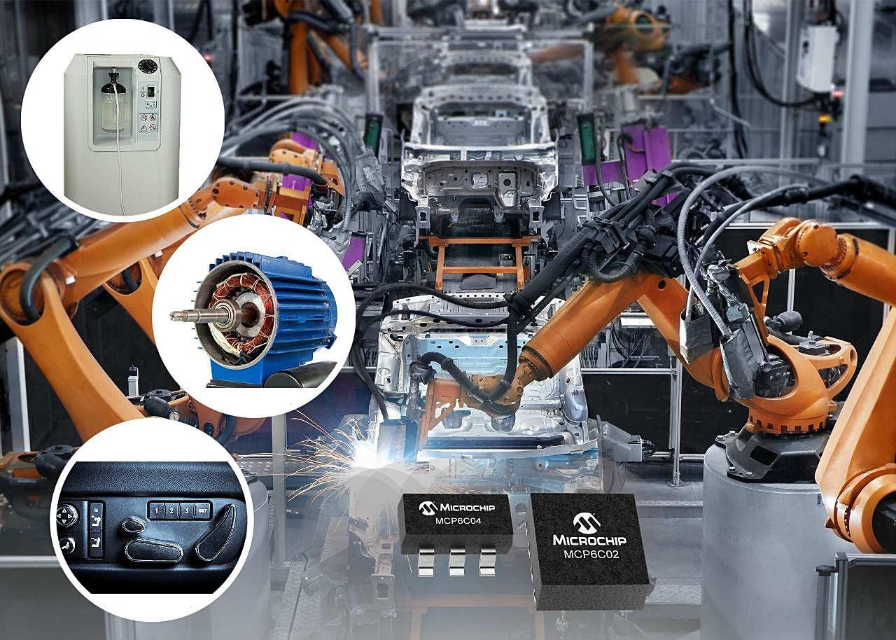 入力オフセット電圧が小さい車載用電流検出アンプIC (出所:Microchip Technology)