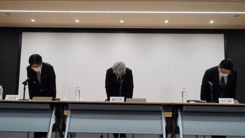 みずほ銀行が2021年3月1日に開いた記者会見の様子