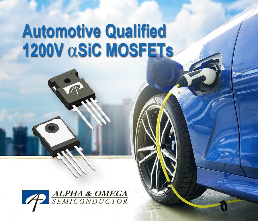 車載充電器に向けた+1200V耐圧のSiCパワーMOSFET (出所:Alpha and Omega Semiconductor)