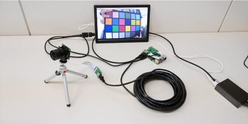 ラズパイとカメラの接続距離を最大20mに延ばせるケーブル延長キット