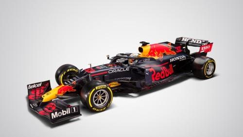 Red Bull Racing HondaのF1マシンの車体。Oracleのロゴも入っている