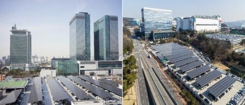 韓国拠点の駐車場に太陽光パネルを設置