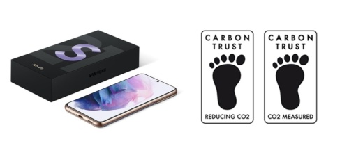 Galaxy S21は英国の非営利環境団体カーボントラストの「Reducing CO<sub>2</sub>認定」を獲得