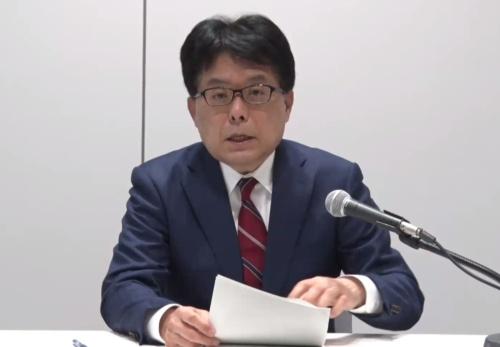 オンライン会見に臨んだ日本郵政の増田寛也社長