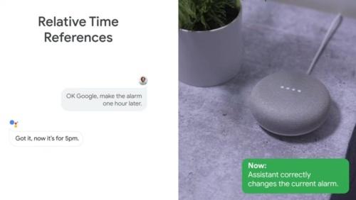 一度午後4時に設定したアラームを「1時間後にして」とGoogleアシスタントに話しかけて、修正するデモ