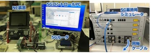 図1:制御系ネットワークの5G無線評価機器(出所:NEC)