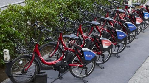 「3密」を避ける移動手段として利用が急増しているドコモ・バイクシェアの電動自転車