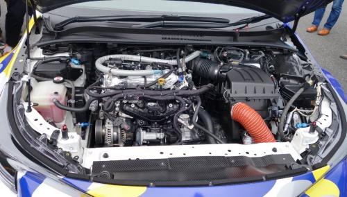 出走車両の水素エンジン