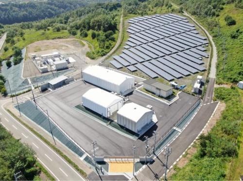 電力貯蔵技術研究サイトの航空写真