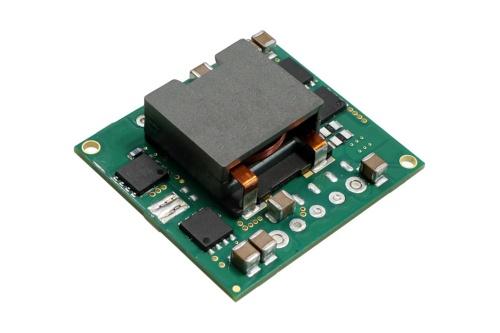 34.0mm×12.7mm×36.8mmと小さい非絶縁の昇降圧型コンバーターモジュール