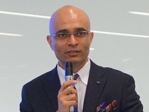 富士通のCTOに就任するヴィヴェック・マハジャン氏。写真は同氏が日本IBMに在籍していた2018年3月5日に撮影したもの