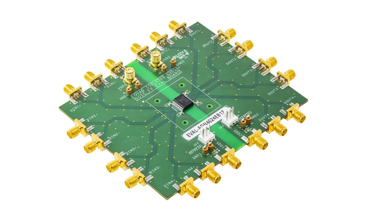 新製品の評価ボード「 EVAL-ADN4624EB1Z」 (出所:Analog Devices)